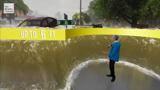 The Weather Channel Hurricane Flooding Immersive Mix Reality with Mark Elliot