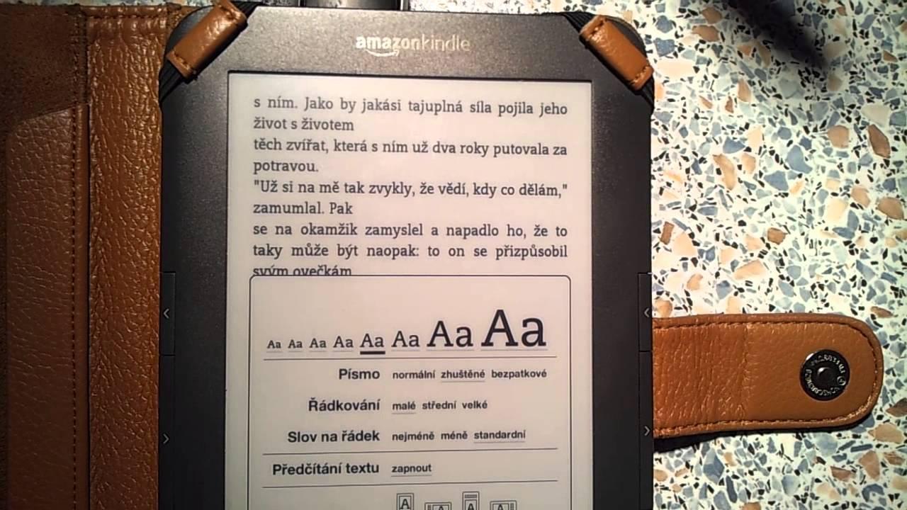 Amazon Kindle change the font-size