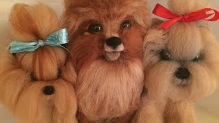 ЙОРИК -- СУХОЕ  ВАЛЯНИЕ  / ШКОЛА  ФЕЛТИНГА Татьяны Шелиповой  / How to Make Felt Dog/毡玩具