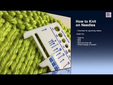How to finish Knits  - Bind Off - Beginner (with closed captions) or cast off