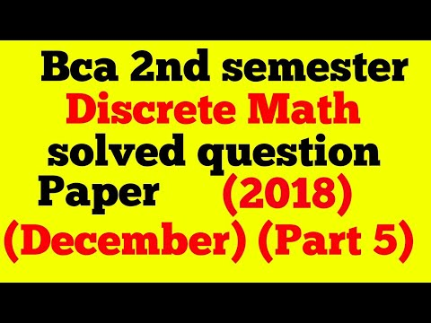 bca discrete math 2nd semester 2018 question paper solved (part5) (pigeon  hole principle intro)