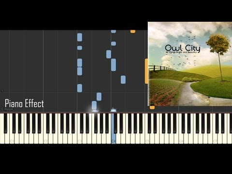 Owl City - Honey and the Bee (Piano Tutorial Synthesia)