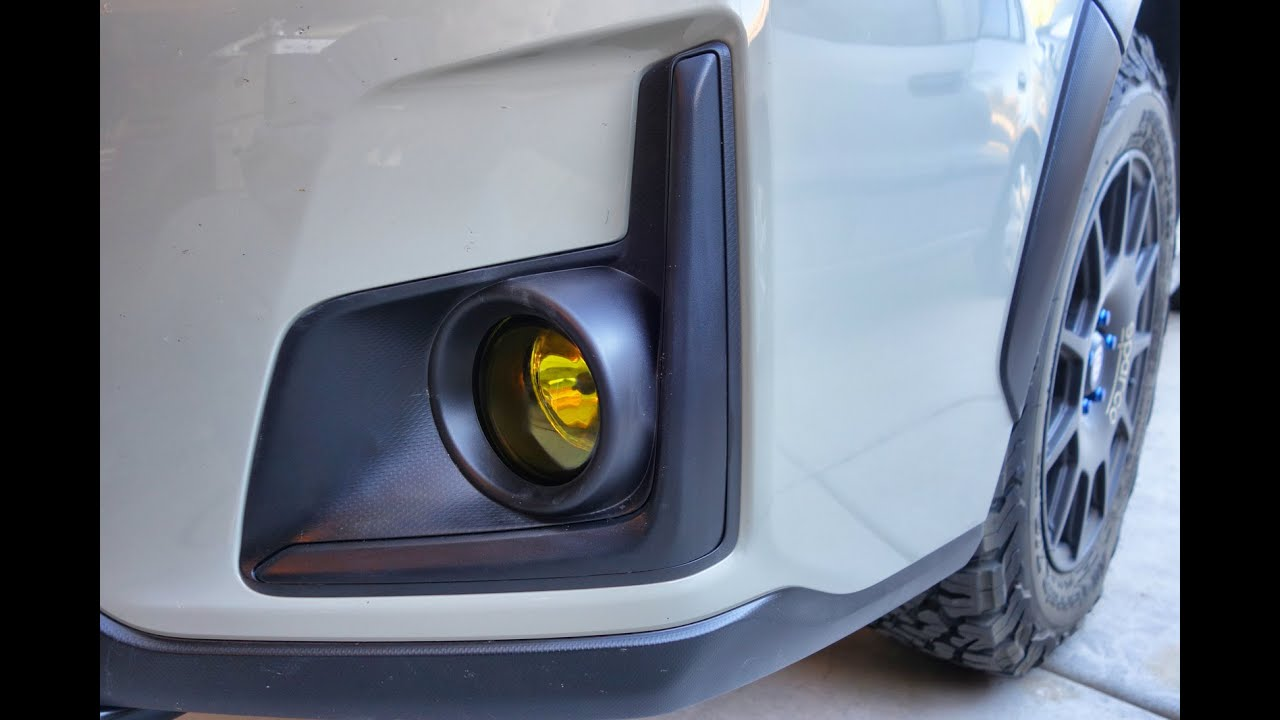 Subaru Crosstrek Brz Type Yellow Fog Light Install