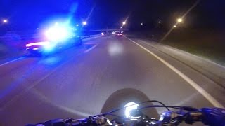 Bike VS Cop Police Chase Motorcycle Amazing ESCAPE Running Away From Cops Stunt Bike Gets Away 2016