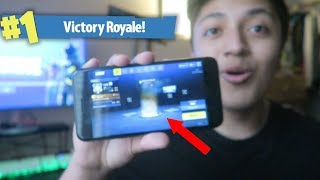 PLAYING FORTNITE ON MOBILE! (FIRST GAME EVER!) + FREE FORTNITE MOBILE CODES