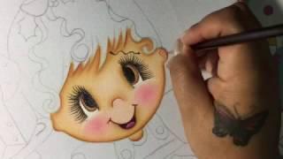 Pintura En Tela Niña Navidad # 1 Con Cony