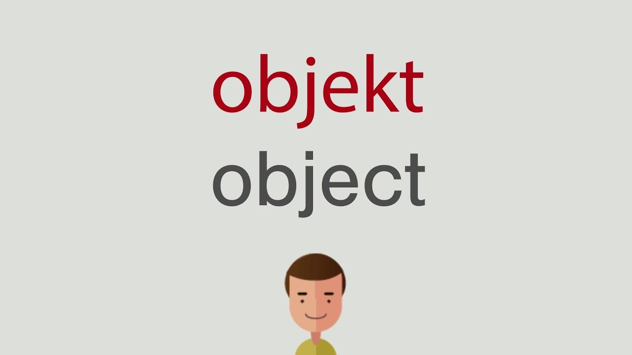 Wie heißt objekt auf englisch - YouTube
