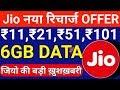 Jio 6GB DATA : Jio New Add On Data Plan 2018