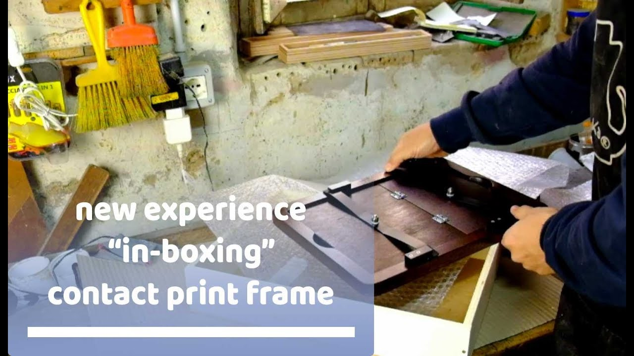 NEW EXPERIENCE! in-boxing contact print frame - YouTube