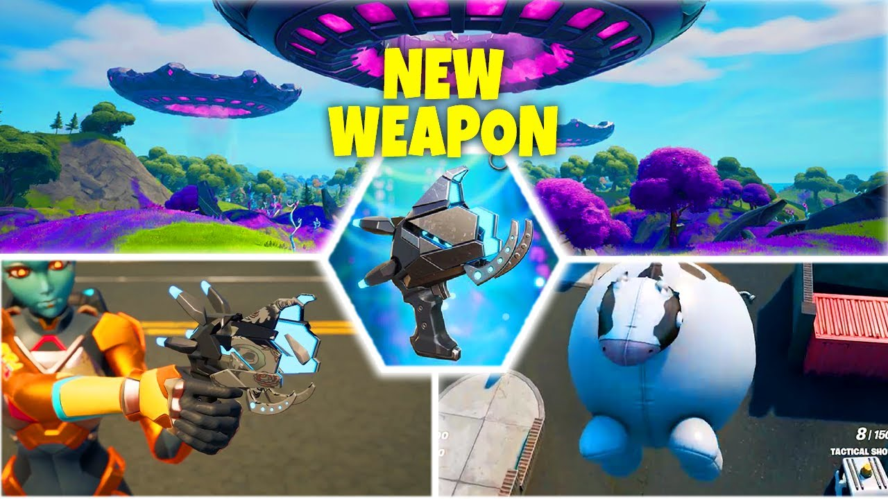 New Weapon Plasma Cannon & Inflate-A-Bull - Fortnite today's Update