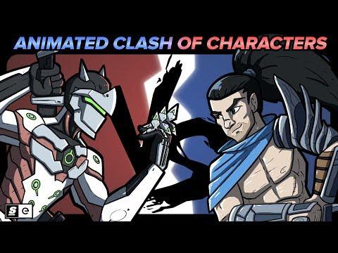 Genji VS Yasuo: Animated Clash of Characters