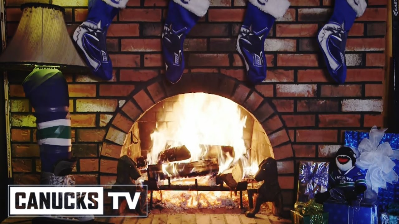 vancouver canucks 2016 holiday fireplace youtube