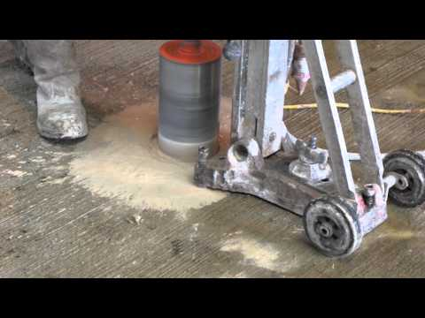 Hilti Core Drill Rig - Drilling A 150mm Hole