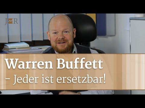 Warren Buffett - Jeder ist ersetzbar!