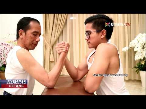 Jokowi dan Kaesang Adu Panco, Siapa yang Menang?