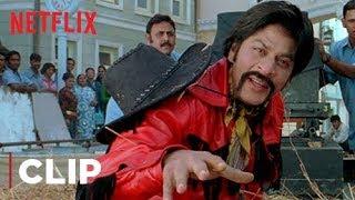 Shah Rukh Khan Funny Scene   Yenna Rascala, Mind It!   Om Shanti Om   Netflix India