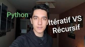 Python: algorithmes itératif VS récursif (Jour 55)
