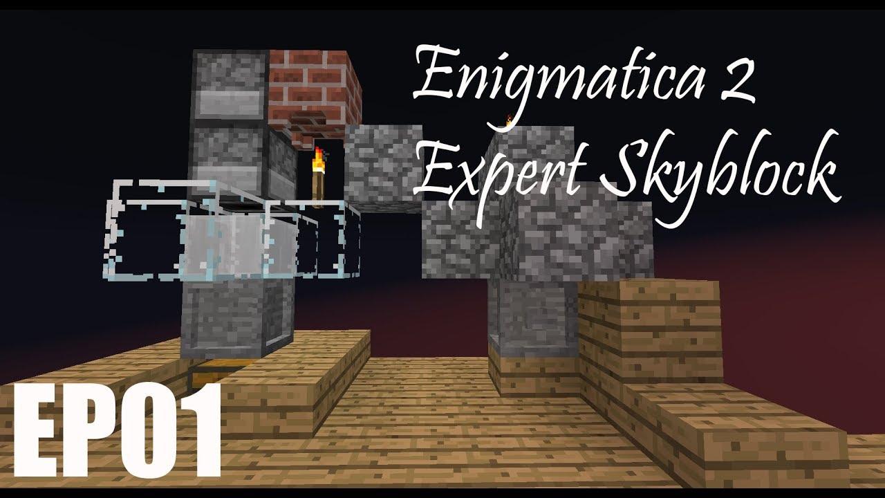 Enigmatica 2 Expert Skyblock | EP01 | Sky Resources 2! : LightTube