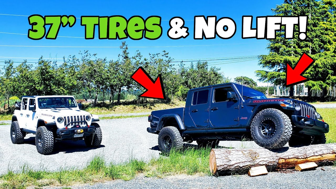 Stock Gladiator on 37s No Lift !! + Going Topless is EASIER than you think on Jeep Wrangler JLU !!