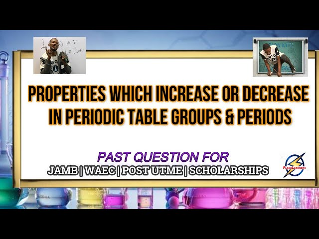 Periodic Properties Of Elements In Groups & Periods