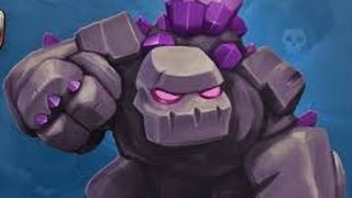 Clash of clans raid with golem lucky 2 star in war