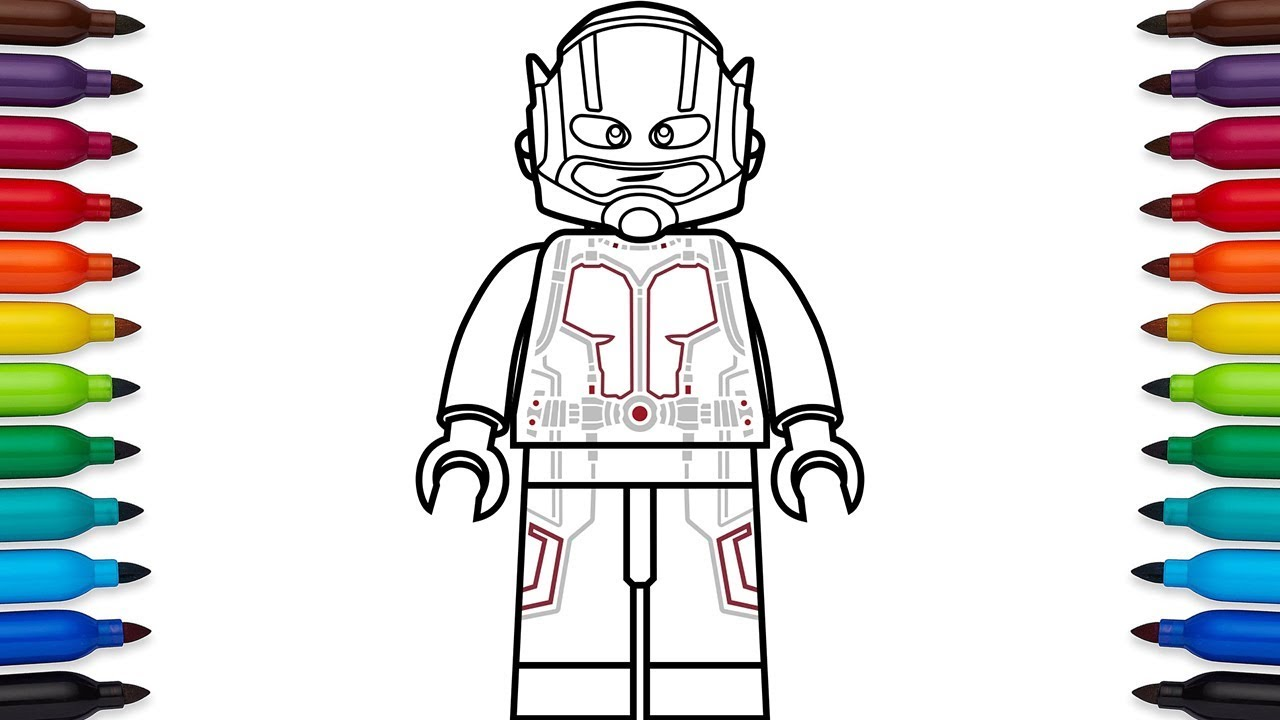 how to draw lego antman (scott lang) from marvel's ant