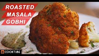 Roasted Masala Gobhi | Spicy Baked Cauliflower | Tandoori Gobhi in Oven