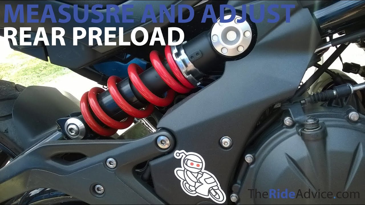 how to measure and adjust rear preload - adjust motorcycle suspension