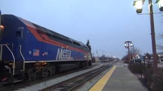 Metra rush hour at Tinley Park, featuring the newest MP36PH-3C, horn shows, and more!
