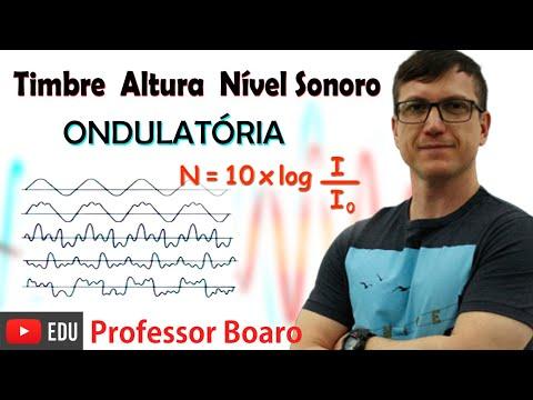 TIMBRE, ALTURA e NÍVEL SONORO - ONDULATÓRIA -  AULA 10 - Professor Boaro