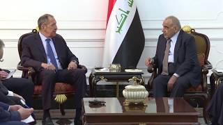 С.Лавров и А.Абдельмахди, Багдад, 7 октября 2019 года