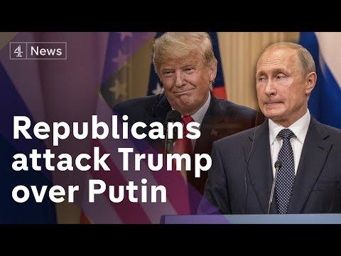 Donald Trump under-fire over Putin summit performance