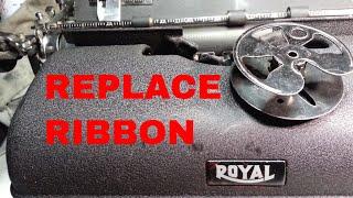 Royal KMM FPE HH KH 10 T1 B64 Typewriter Ribbon Install Rewind Respool Replace