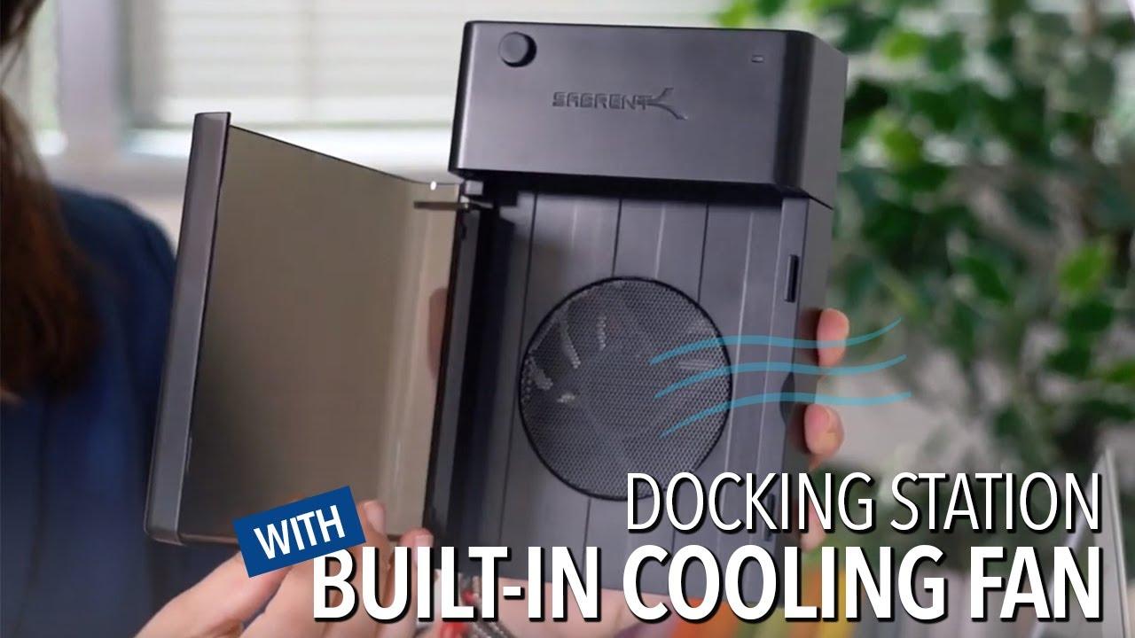 USB 3.0 to SATA External Hard Drive LayFlat Docking Station Built-in Cooling Fan