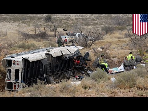 Accident entre un bus de prison et un train : un bus dérape et frappe un train, faisant 10 morts