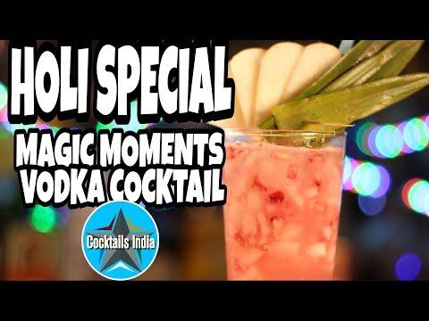 holi special magic moments vodka cocktail | how to make vodka cocktail | dada bartender | holi
