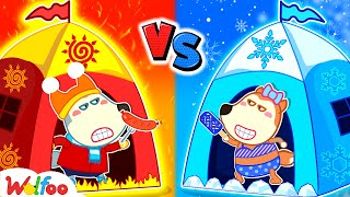 Wolfoo and Hot vs Cold Challenge With Lucy - Kids Stories About Wolfoo Family | Wolfoo Family