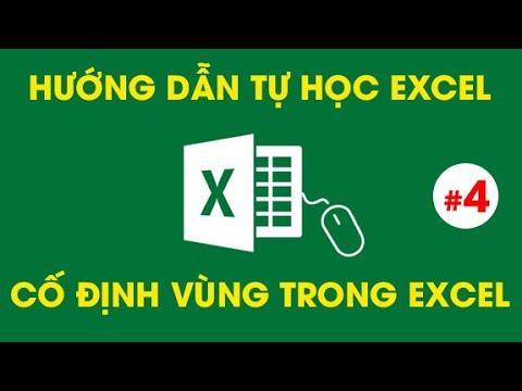 Tự Học Excel – Hướng Dẫn Cố Định Vùng Trong Excel Bằng Phím F4 – #4