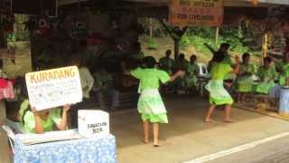 Kuradang at Tinikling, performed along the Loboc River, Bohol, Philippines 2013