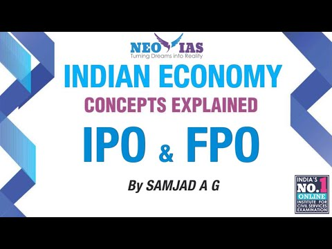 IPO and FPO | Capital Market | Indian Economy | Part -3