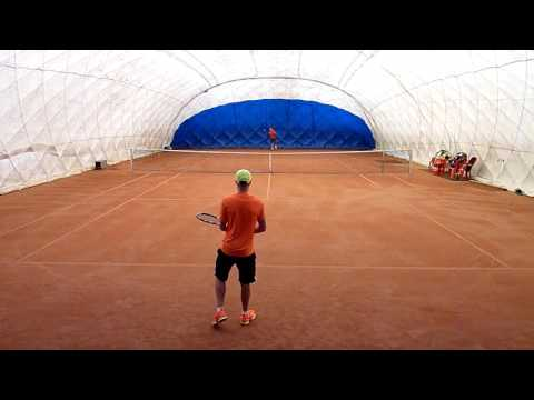 Fruitarian Tennis practice