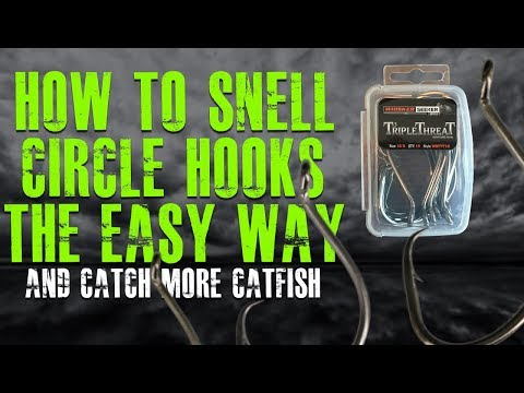 Snelling A Hook The Easy Way (Snell For Triple Threat Hooks)