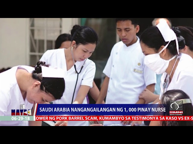 Saudi Arabia Nangangailangan, Ng 1,000 Pinay Nurse