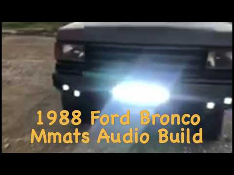 Ford Bronco New audio system • Light bars • RGb lighting and more.