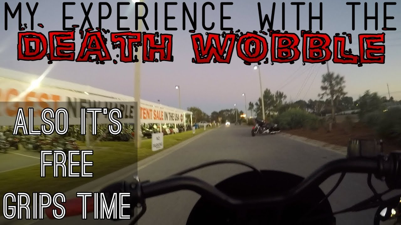My Harley Death Wobble Experience! Also time for the free grips give away!!