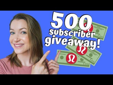 500-subscriber-giveaway!!!-lululemon-giftcard!-$20?-$50?-$100?