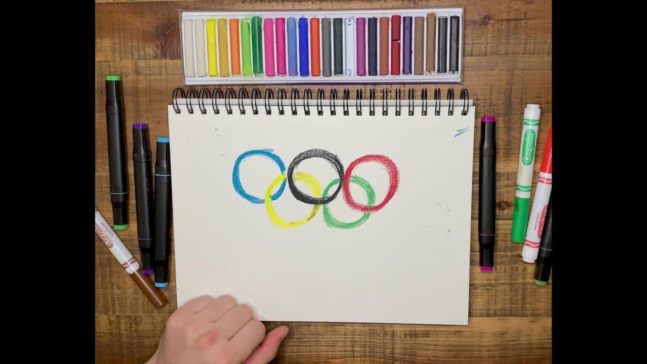 Урок рисования для детей от 3 лет. Рисуем Олимпийские Кольца!
