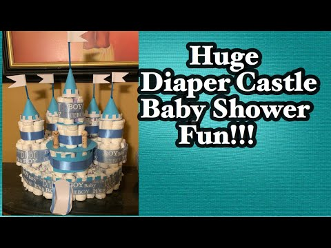 Diaper Castle | Baby Shower Fun| DYI -Detailed Instructions