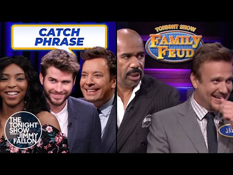 Tonight Show Games with Liam Hemsworth, Steve Harvey & Jason Segel