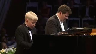 Denis Matsuev and Alexander Malofeev -- W. Lutosławski. Variations on a theme by Paganini.